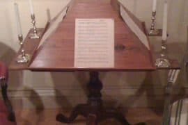 Benjamin Franklin's Four Sided Music Stand