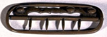 Brass Neck Stock (Necktie) Buckle