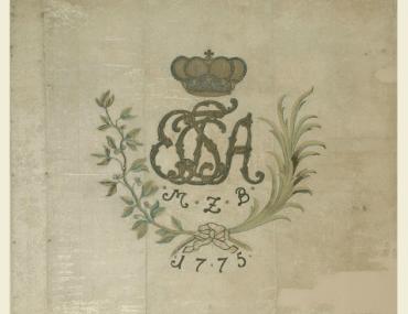 German Ansbach-Bayreuth Regimental Flag