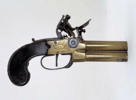 British Nicholson Over and Under Pistol