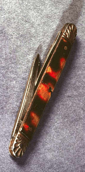 Tortoise Shell Pen Knife