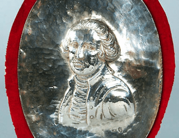 Silver Plaque Bust of George Washington