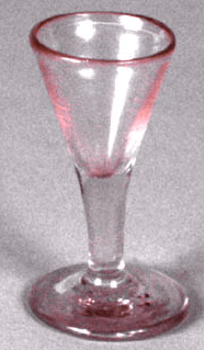Red-Toned Stem Glass