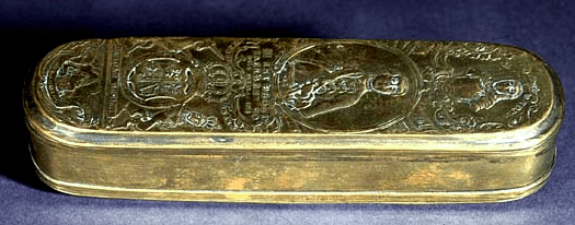 British Brass Tobacco Box