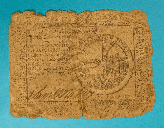 United States - 2 Dollar Bill (Note) - 1776