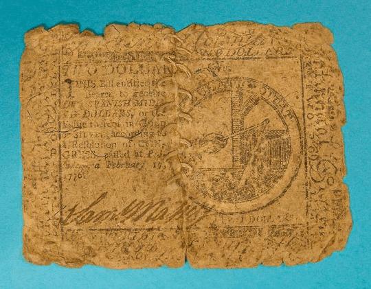 United States - 2 Dollar Bill (Note) - 1776