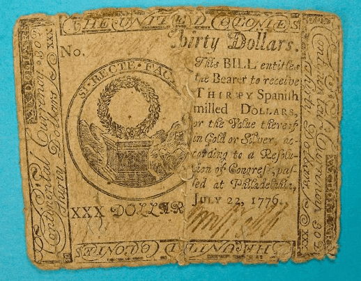 United States - 30 Dollar Bill (Note) - 1776