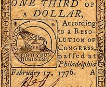Continental Curency One-Third Dollar