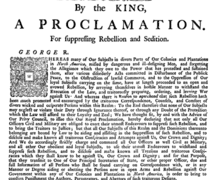 Proclamation of Rebellion