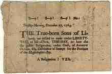 Sons of Liberty Broadside