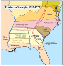 Georgia Colony Map