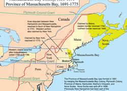 Massachusetts Colony Map