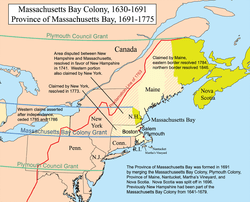 Massachusetts Colony Map
