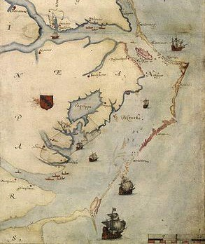 Roanoke Map 1584