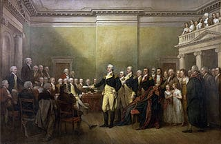General George Washington Resigns his Commission