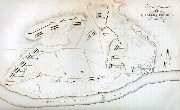 Encampment at Valley Forge Map
