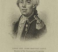 John Baptista Ashe – Continental Army Officer – North Carolina