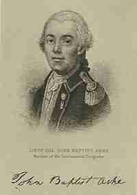 John Baptista Ashe – Continental Army Officer – North Carolina