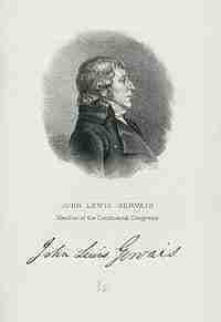 John Lewis Gervais – Continental Congressman – South Carolina