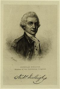 Nicholas Eveleigh – Continental Army Officer – South Carolina