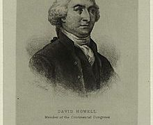 David Howell – Continental Congressman – Rhode Island
