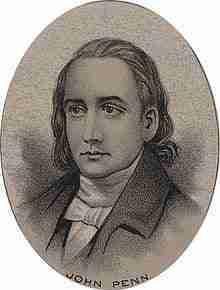 John Penn – Continental Congressman – North Carolina