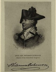 Philemon Dickinson – Continental Congressman – Delaware