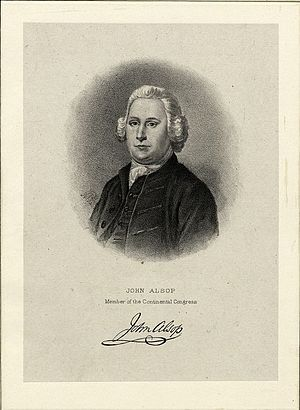 John Alsop – Member of the New York Provincial Congress