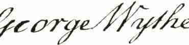 George Wythe signature