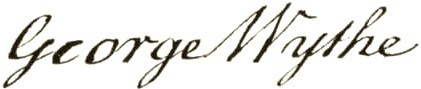 George Wythe signature