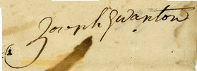 Joseph Wanton Signature