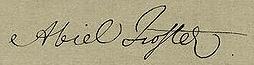 Abiel Foster Signature