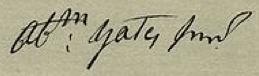 Abraham Yates, Jr. Signature