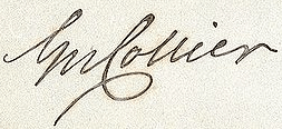 George Collier Signature