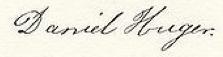 Daniel Huger Signature