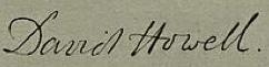 David Howell Signature