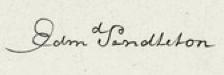 Edmund Pendleton Signature