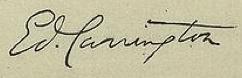 Edward Carrington Signature