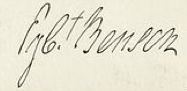 Egbert Benson Signature