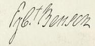 Egbert Benson Signature