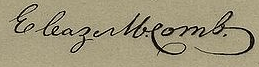 Eleazer McComb Signature