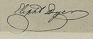 Eliphalet Dyer Signature