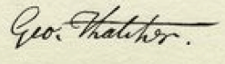 George Thatcher Signature