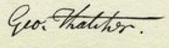 George Thatcher Signature