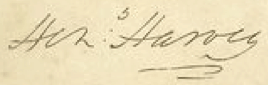 Henry Harvey Signature