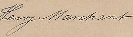 Henry Marchant Signature