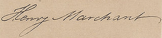 Henry Marchant Signature