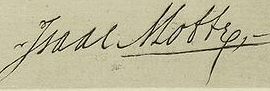 Isaac Motte Signature