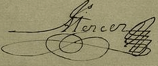 James Mercer Signature