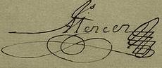 James Mercer Signature